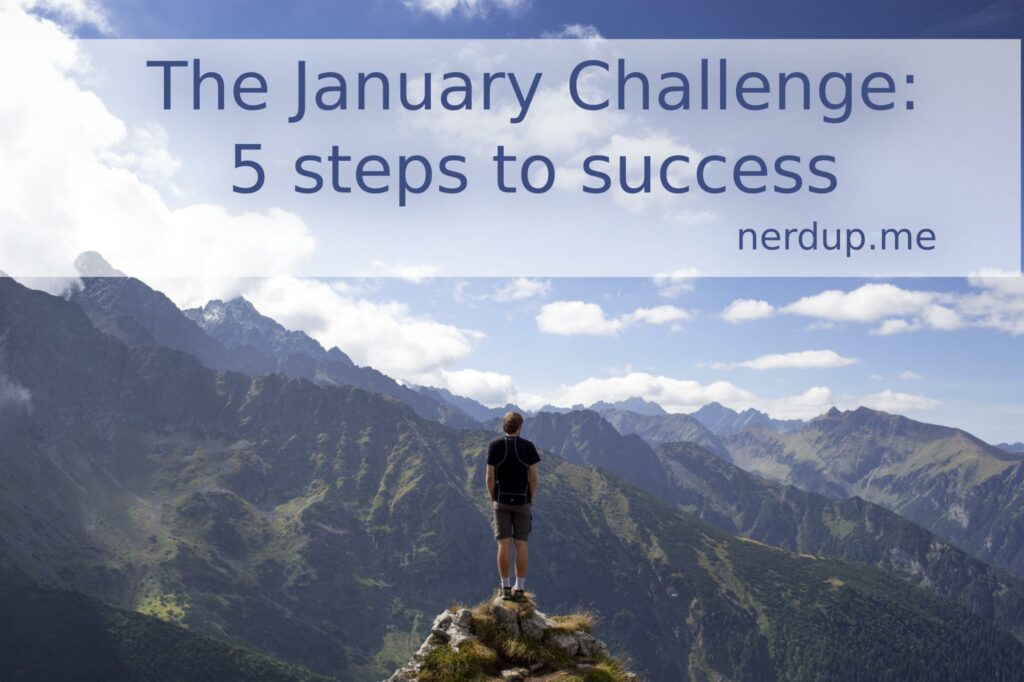 The January challenge of nerdup.me: 5 steps to success