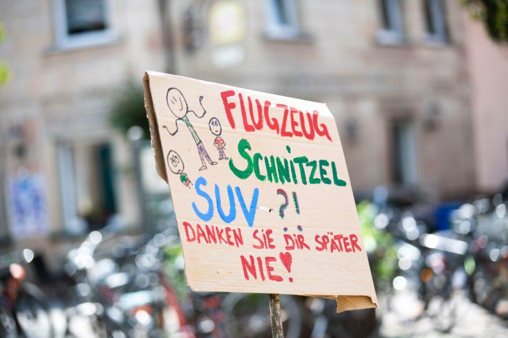 Proteste für mehr Nachhaltigkeit bei Fridays For Future.
