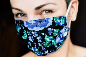 a sustainable cloth face mask to protect and stay safe from the corona virus