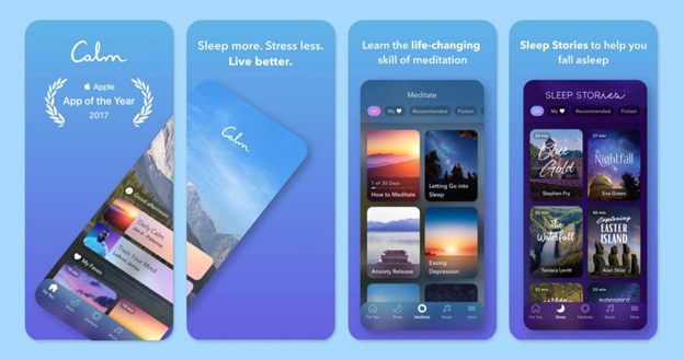 Screenshot from the Calm meditation app.